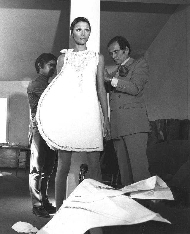 Pierre Cardin: 1950 - Pierre Cardin founded his own company, at 10 rue Richepanse. He started designing masks and costumes for the theater.