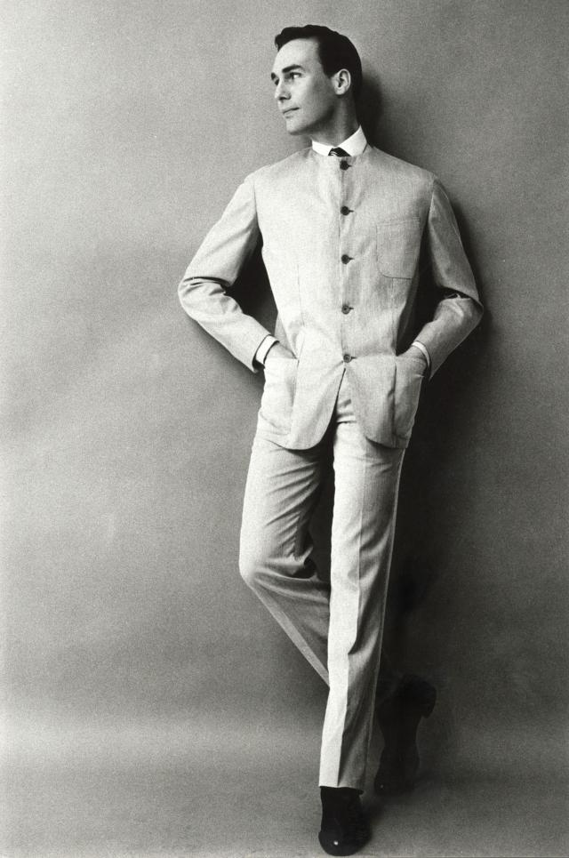 "Pierre Cardin: 1960 - He launches his first men's collection called ""Cylindre"" (Cylinder) presented by 250 French students.He creates the men's ready-to-wear department..."