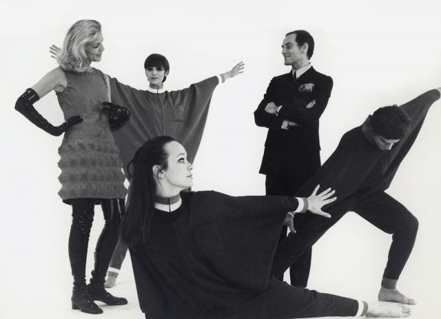"Pierre Cardin: 1968 - He works with the American actress and model Lauren Bacall, who famously wears the ""Cardine"" dresses."
