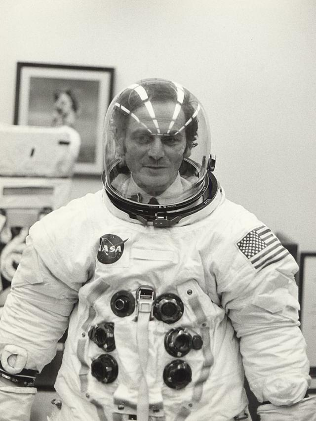 Pierre Cardin: 1971 - He was very impressed by the fantastic adventure of putting a man on the moon. He visited NASA and became the first civilian in the world to put on the...