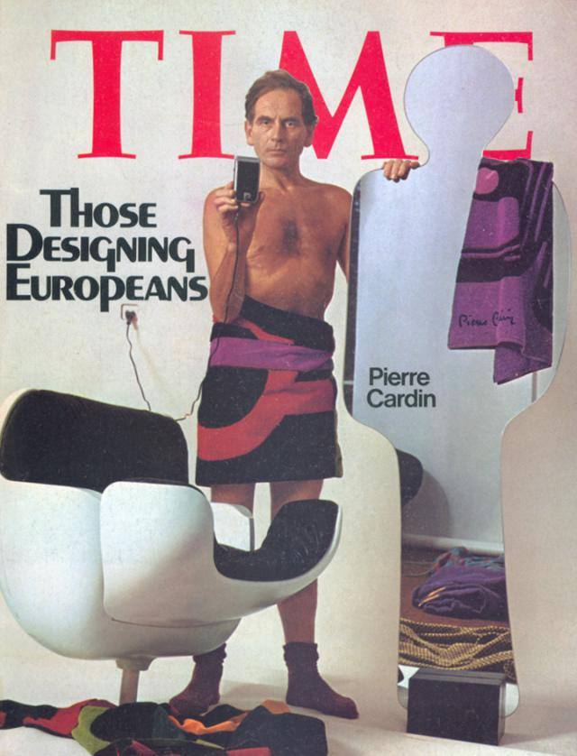 Pierre Cardin: 1974 - On December 23rd he becomes the first couturier to be on the Time magazine's cover. He is then 52.
