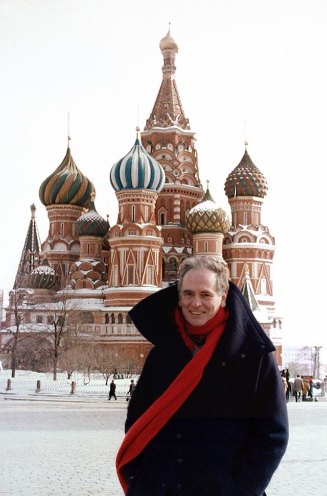 Pierre Cardin: 1991 - He holds his fashion show in the Red Square, Moscow in front of 200.000 people. Which is a first in Russian history.