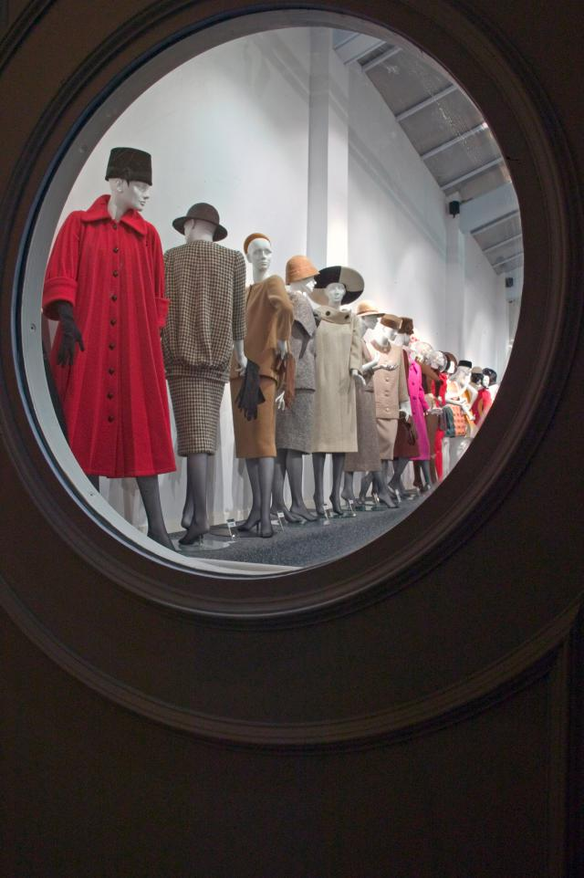 "Pierre Cardin: 2006 - He opens his museum ""Past-Present-Futur"", at Saint-Ouen.(France)"