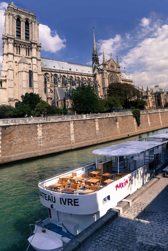Pierre Cardin: 2013 - He inaugurates the « Bateau Ivre Maxim's de Paris », quai de Montebello in front of Notre-Dame-de-Paris, for cruises to discover the capital.He...