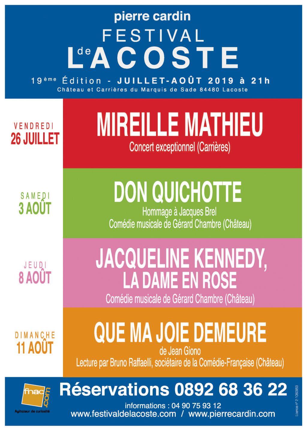"""Festival de Lacoste 2019. """"Au coeur du Luberon, Lacoste, d'une lumineuse beauté, accueillera cette année, le 19ème Festival d'art lyrique et de..."""
