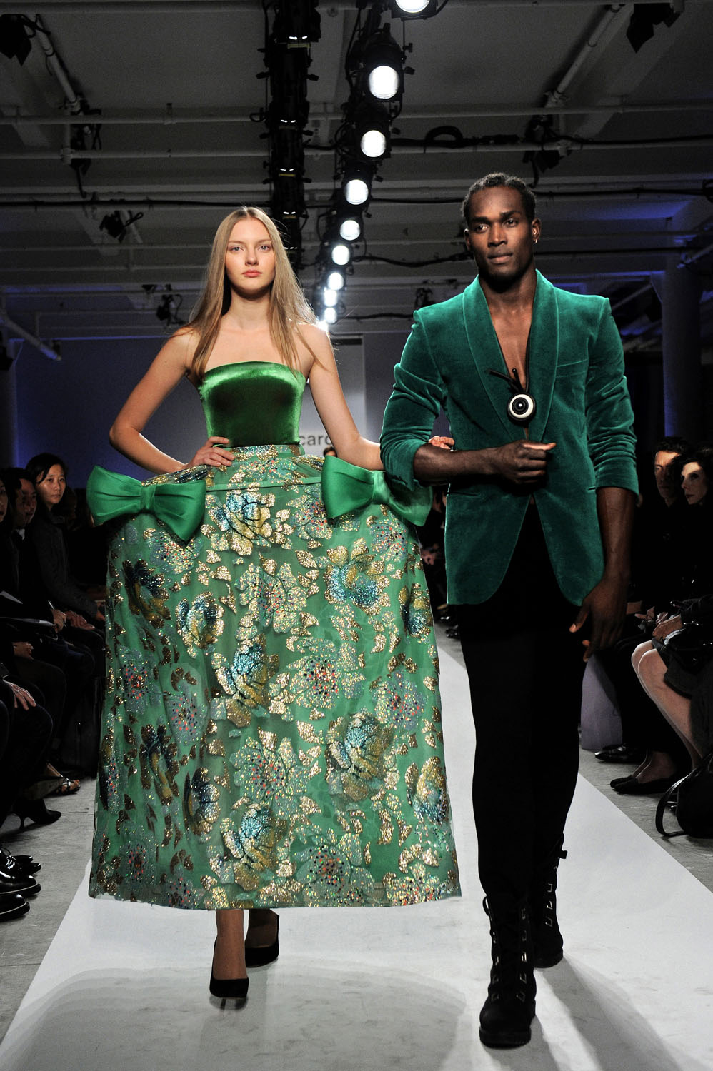 """In green"". The favorite color of Pierre Cardin, green is a color both soothing and invigorating, symbol of nature and well-being.  Used as colored..."