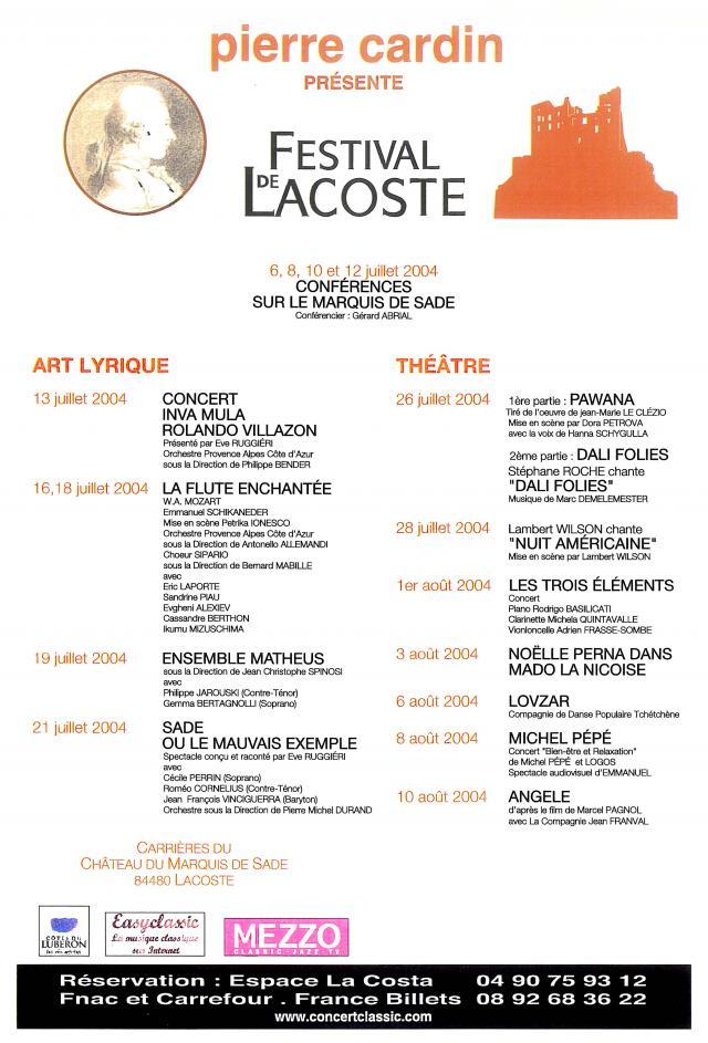 Festival de Lacoste 2004. www.festivaldelacoste.com -