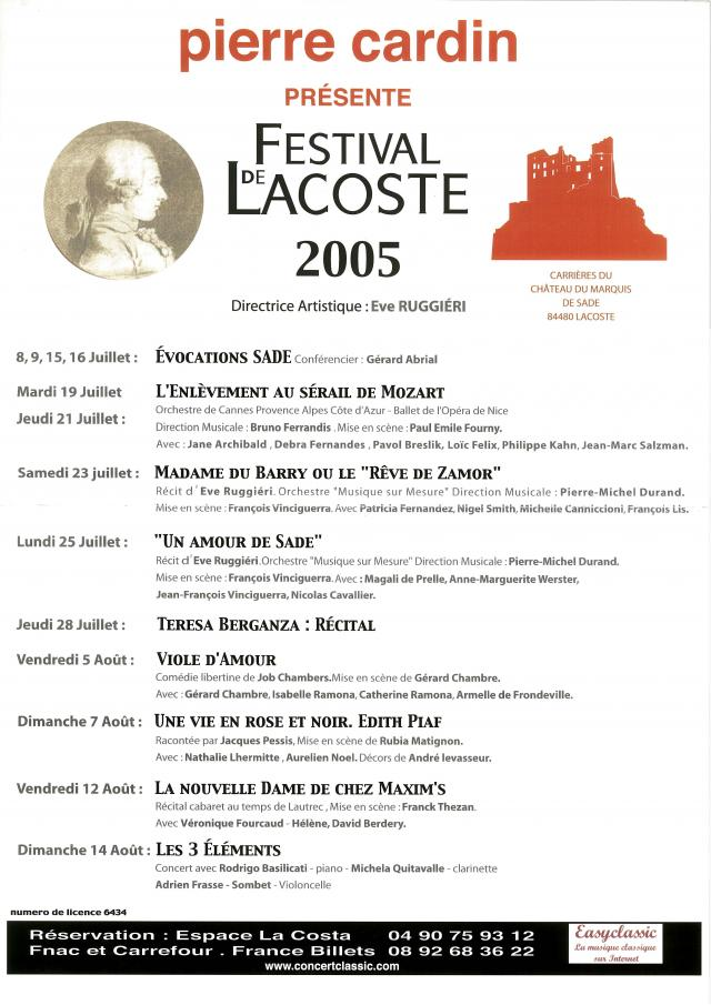 Festival de Lacoste 2005. www.festivaldelacoste.com -