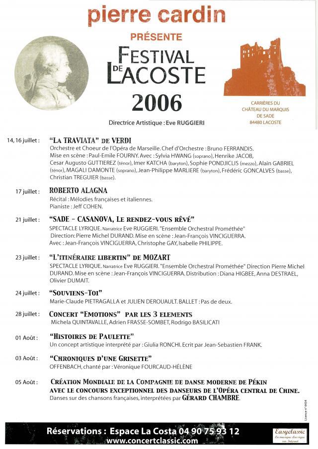 Festival de Lacoste 2006. www.festivaldelacoste.com -