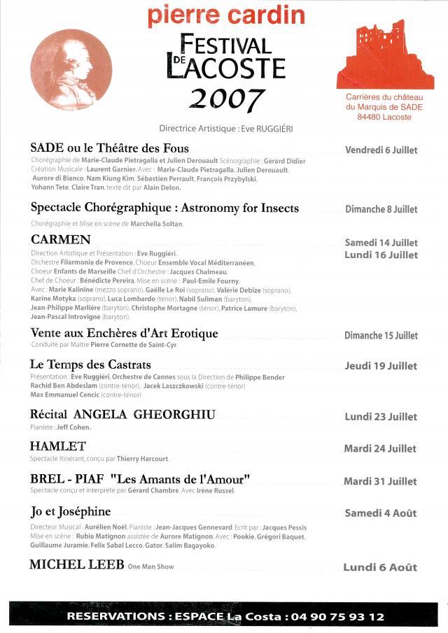 Festival de Lacoste 2007. www.festivaldelacoste.com -