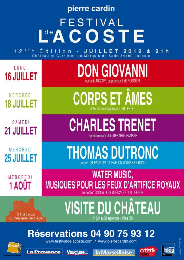 Festival de Lacoste 2012. www.festivaldelacoste.com -