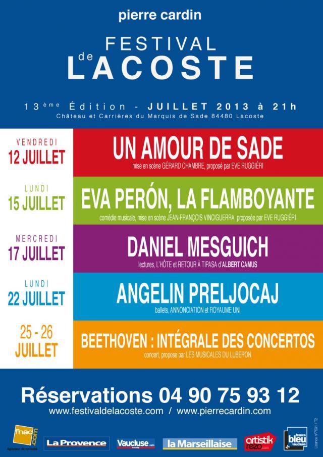 Festival de Lacoste 2013. www.festivaldelacoste.com -