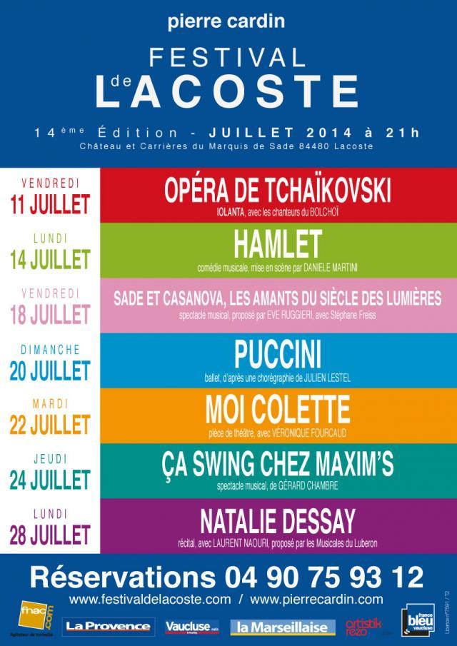 Festival de Lacoste 2014. www.festivaldelacoste.com -