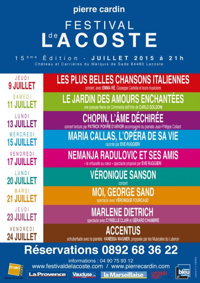 Festival de Lacoste 2015. www.festivaldelacoste.com -