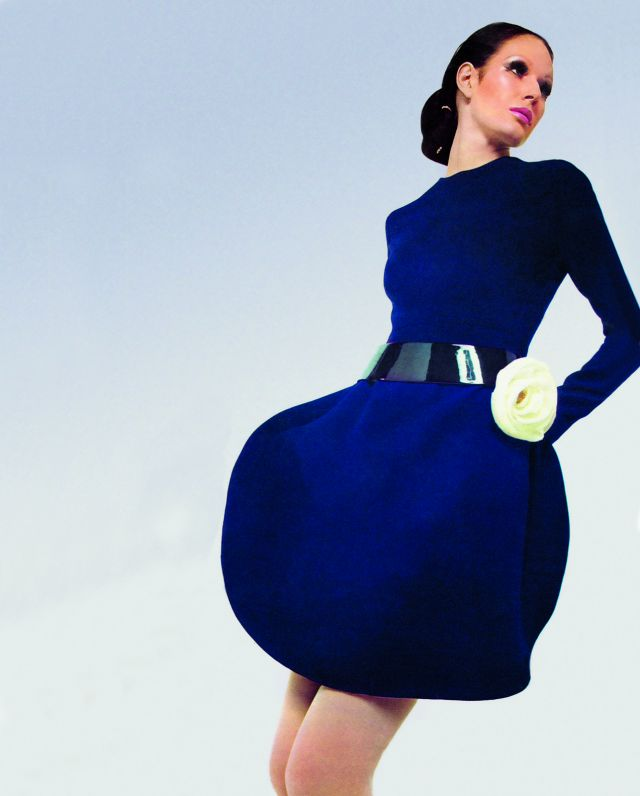 PIERRE CARDIN. Cocktail dress in wool, 1975 - 2017