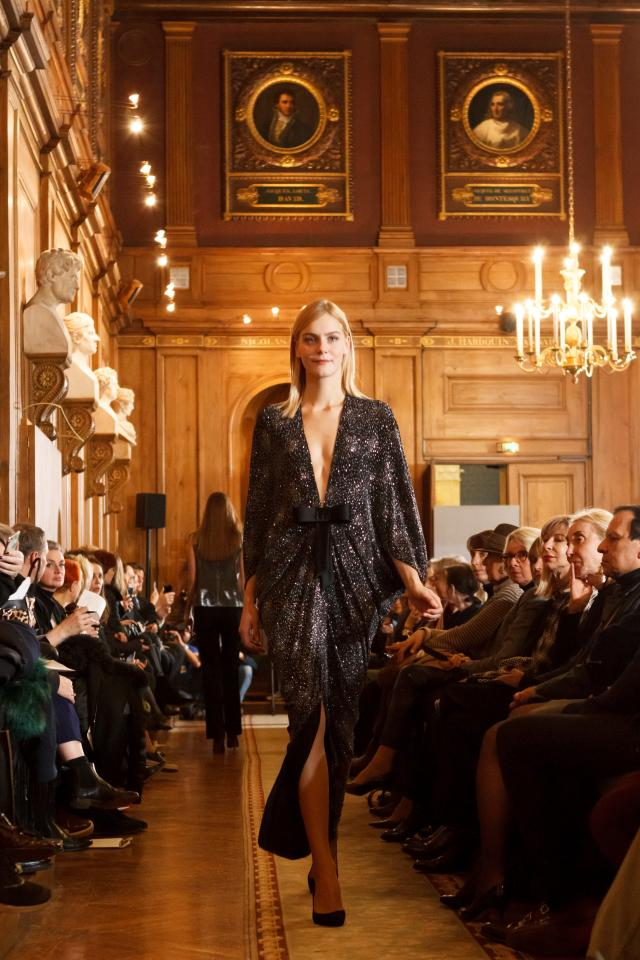 Throwback of 70 years of carreer. Fashion Show at Académie des Beaux Arts - 2016