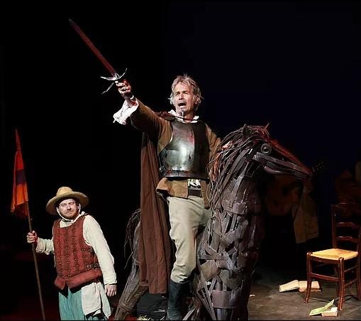 DON QUICHOTTE. Samedi 3 Août à 21h   La comédie musicale « l'Homme de la Mancha » de Dale Wasserman a été adaptée par Jacques Brel. Une troupe... - 2019