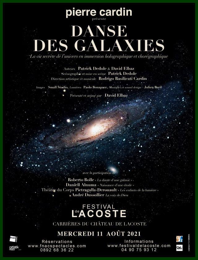 Danse des Galaxies. Mercredi 11 août à 21h   A la veille d'une nouvelle révolution dans nos connaissances scientifiques, l'astrophysicien David... -