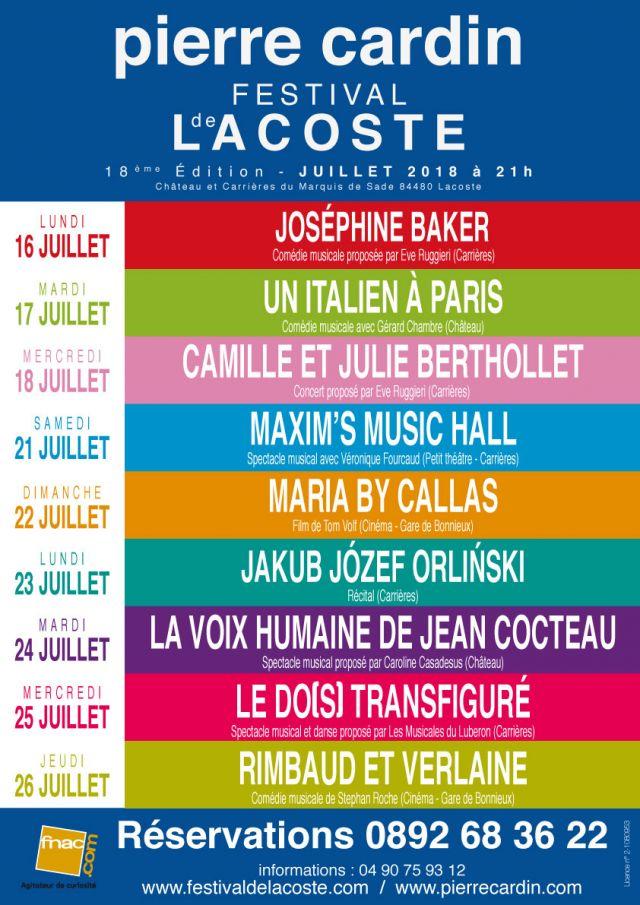 """Festival de Lacoste 2018. """"Au cœur du Luberon, Lacoste, d'une lumineuse beauté accueille cette année encore, le 18ème Festival d'art lyrique..."""
