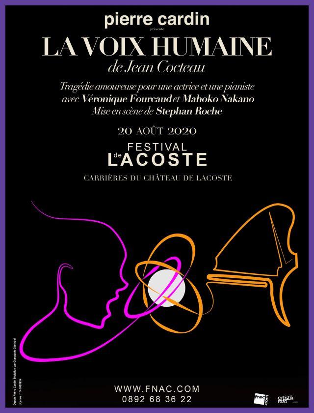 La voix humaine de Jean Cocteau. Jeudi 20 août 2020  - Théâtre musical avec Véronique Fourcaud - Adaptation de Stéphan Roche  La voix humaine, pièce... -