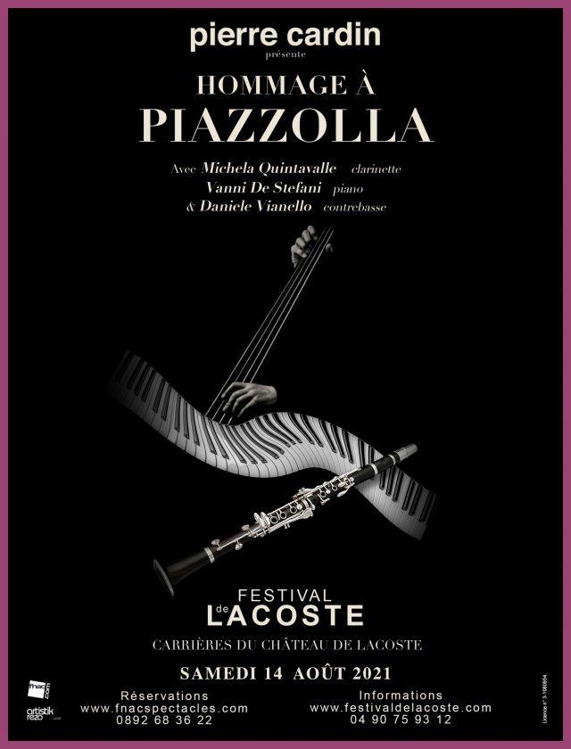 Hommage à Piazzolla. Samedi 14 août à 21h   La musique d'Astor Piazzolla est une pure émotion. L'hommage à ce grand compositeur à la popularité... -