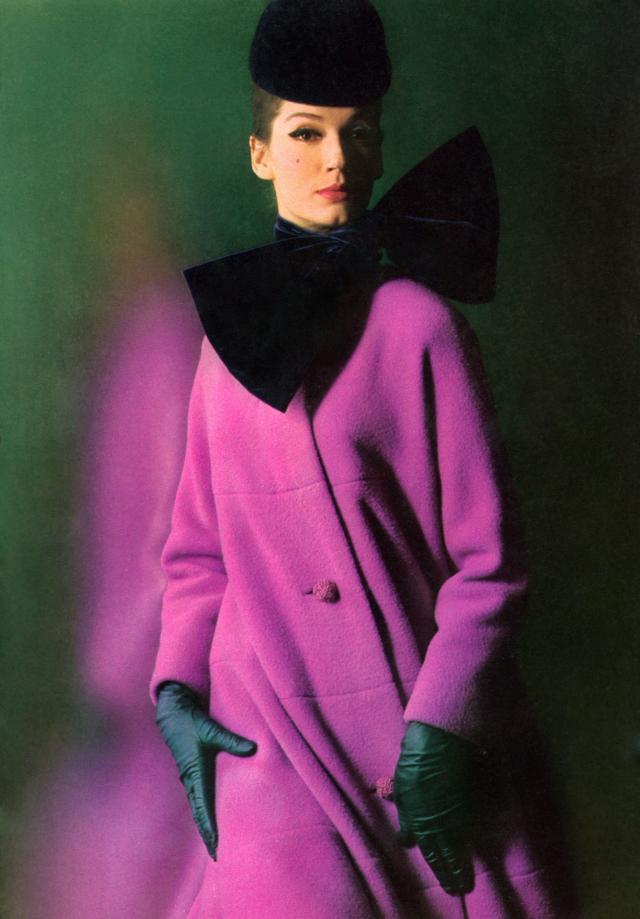 1962. Création Haute Couture Pierre Cardin Manteau - 1962