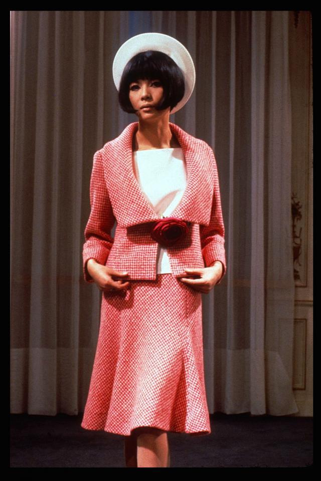 1965. Création Haute Couture Pierre Cardin Tailleur jupe -