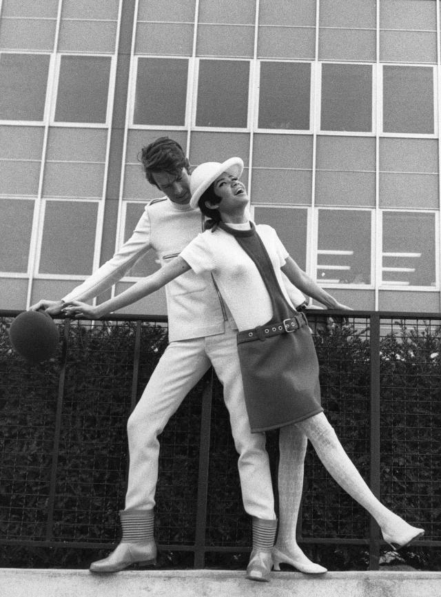 1966. Pierre Cardin Haute Couture Creation -