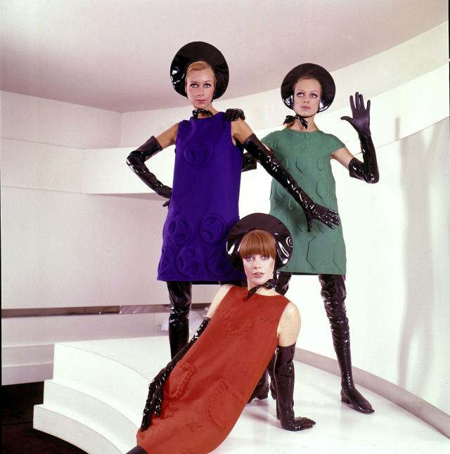 "1968. Pierre Cardin Haute Couture Creation ""Cardine"" dresses -"