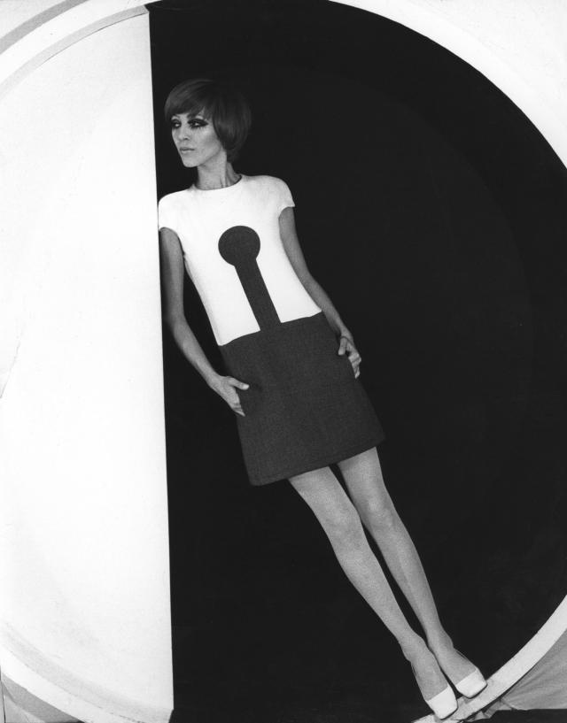 1968. Pierre Cardin Haute Couture Creation Dress -