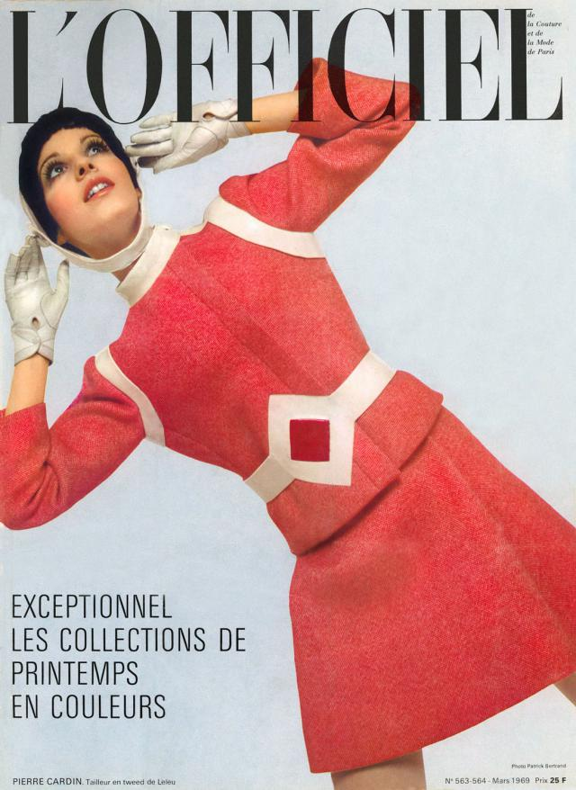 1969 L'Officiel Magazine cover. Haute Couture collections Spring/Summer -