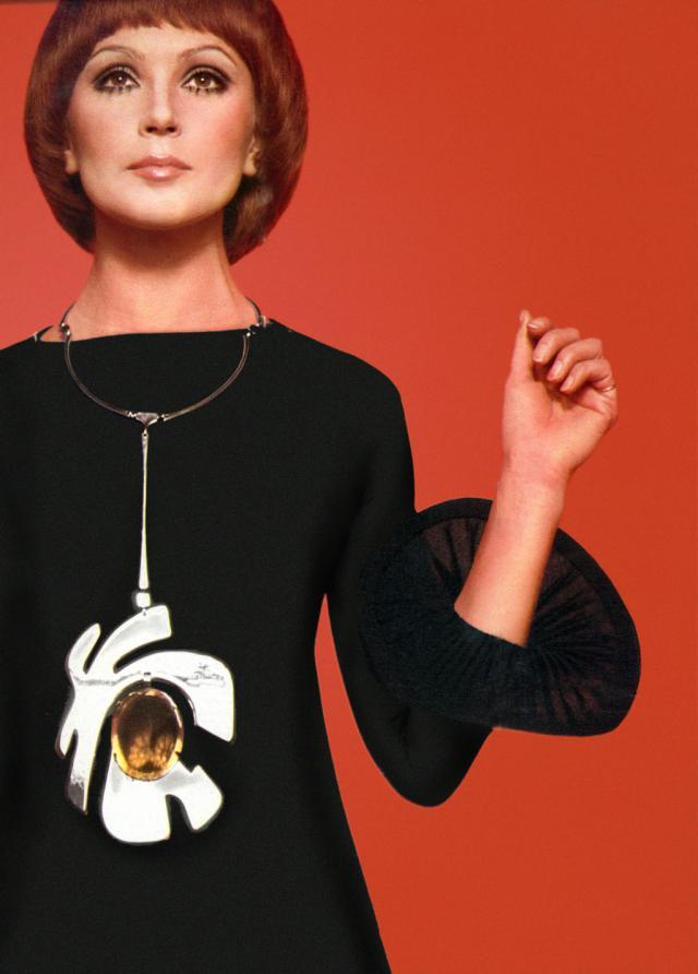 Collier. Création Haute Couture Pierre Cardin - 1969