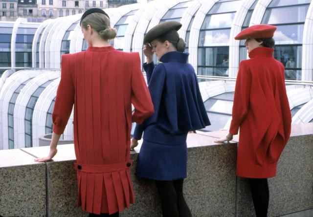 1981. Pierre Cardin Haute couture Creation Coats Dresses -