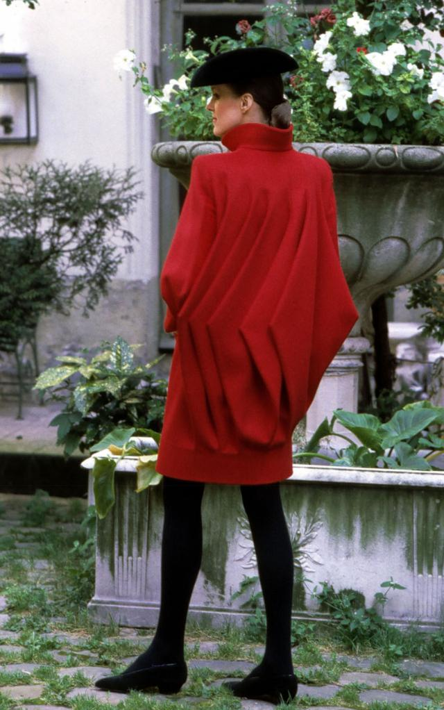 1981. Pierre Cardin Haute Couture Creation Coat Dress - 1981