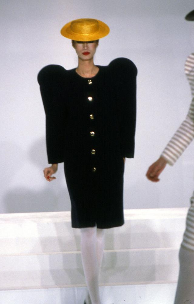 1982. Haute couture Creation Dress-Coat and hat - 1982
