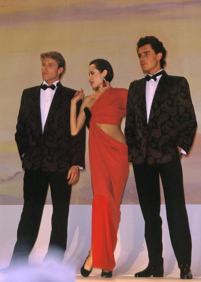 1986. Pierre Cardin Haute Couture Creation Evening dress and suits - 1986