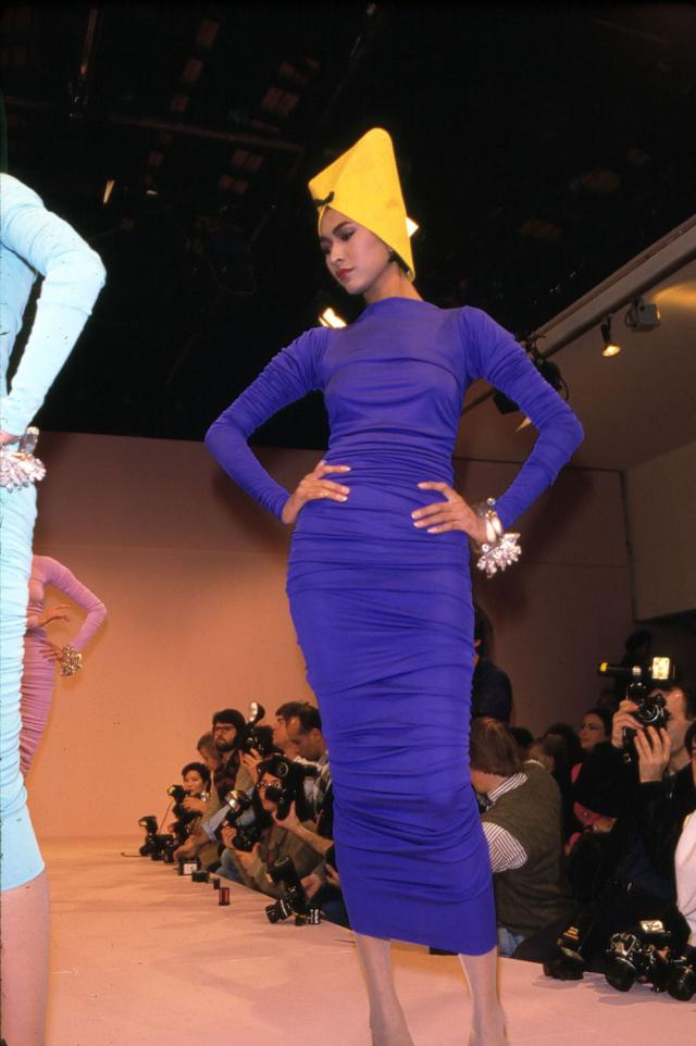 1986. Haute couture Creation Dress and hat -