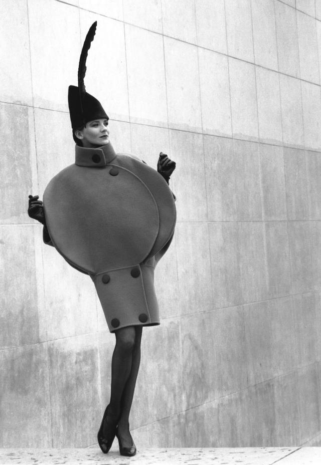 1988. Pierre Cardin Haute Couture Creation Dress Coat -