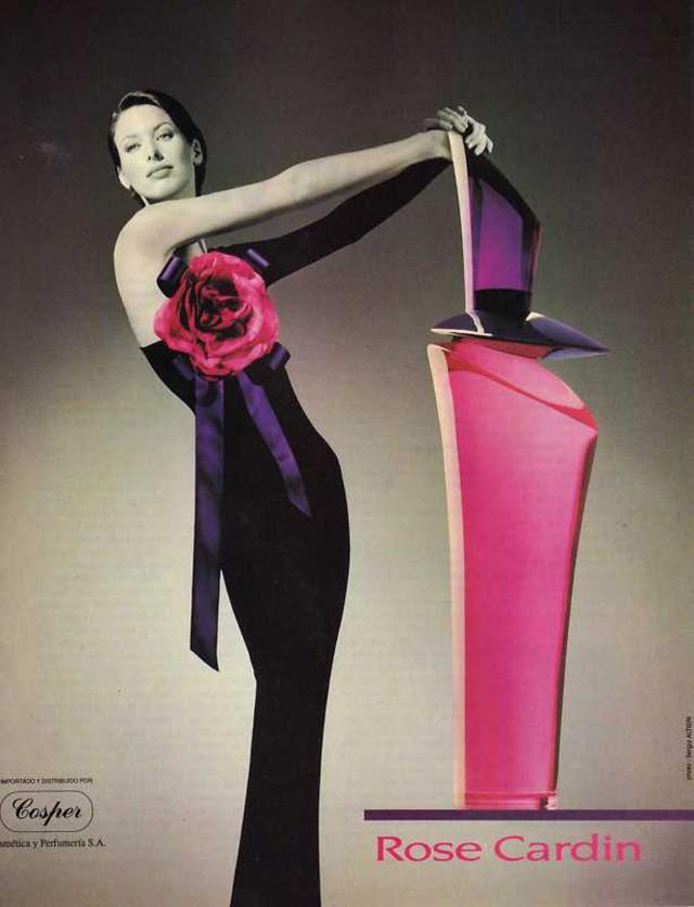 1990 Parfum Rose. Création Haute Couture Pierre Cardin -