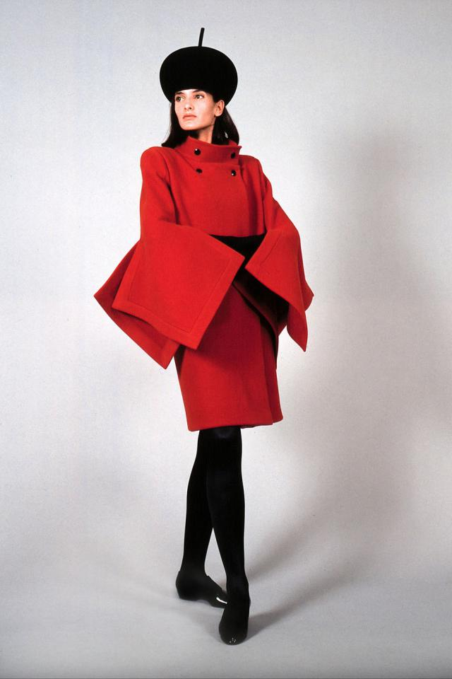 1990. Pierre Cardin Haute Couture Creation Coat -