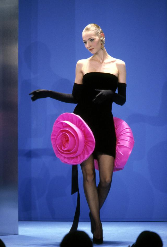 1991. Pierre Cardin Haute Couture Creation Evening dress -