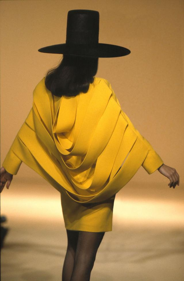 1992. Pierre Cardin Haute Couture Creation Dress Coat -