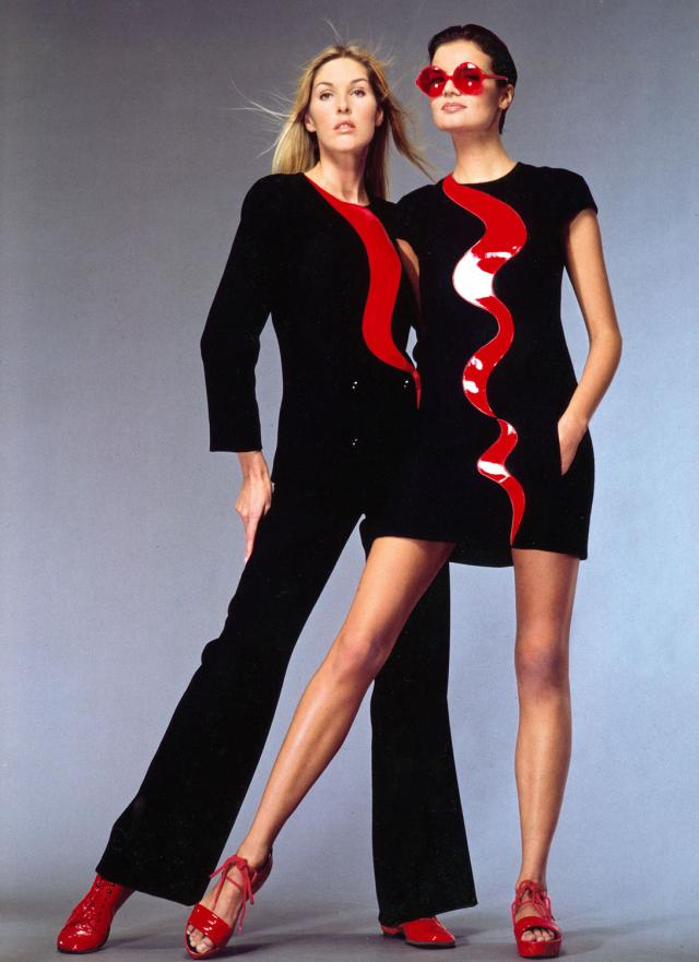 1996. Pierre Cardin Haute Couture Creation Dress and combinaison - 1996