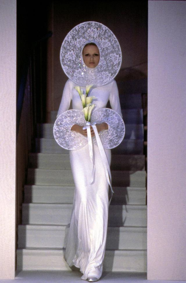 1996. Pierre Cardin Haute couture Creation Wedding dress -