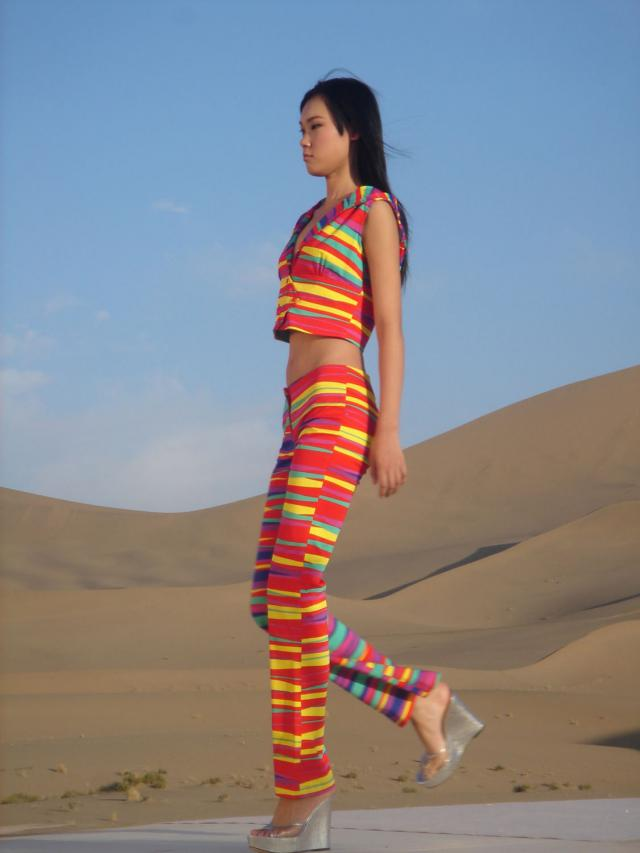 Fashion show Spring/Summer in Desert Gobi. Haute couture Creation - 2007