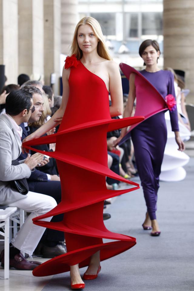 Tranoï Fashion show at Palais Brongniart. Haute couture Creation - 2012