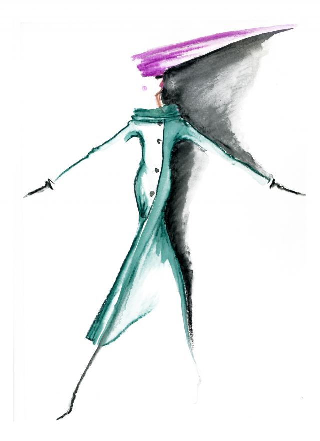 Sketch. By Pierre Cardin -