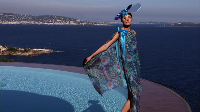 2008. Pierre Cardin Haute Couture Creation Fashion show at the Palais Bulles 2008/2009 -