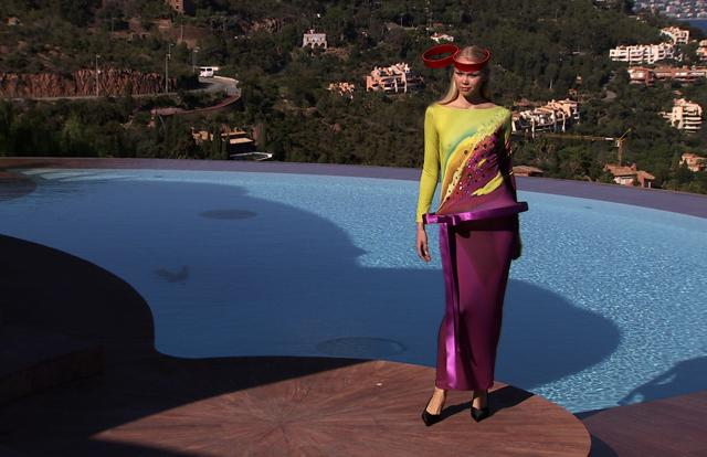 Fashion show at Palais Bulles 2008/2009. Haute couture Creation - 2008