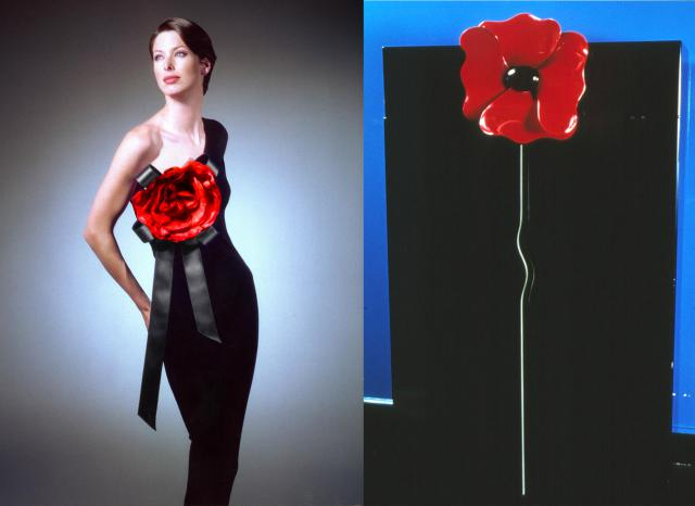 Similitude. Pierre Cardin Haute Couture Creation Evening dress and furniture -
